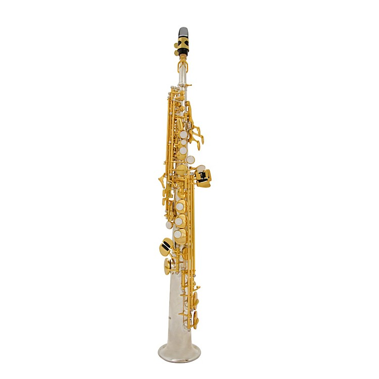Antigua Winds Bb Soprano Saxophone Silver plated body Gold plated keys