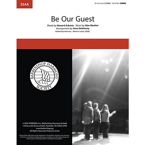 Hal Leonard Be Our Guest SSAA A CAPPELLA arranged by Steve Delehanty-thumbnail