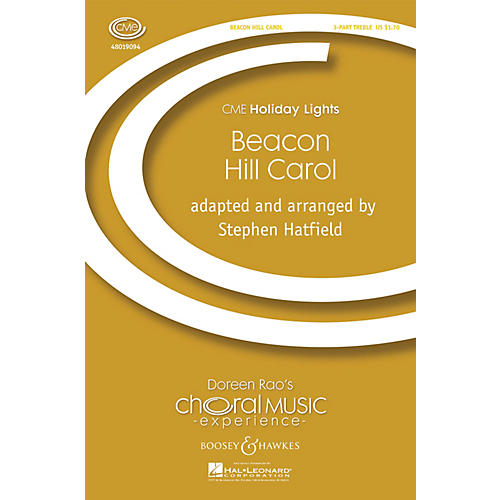 Boosey and Hawkes Beacon Hill Carol (CME Holiday Lights) 3 Part Treble A Cappella arranged by Stephen Hatfield-thumbnail
