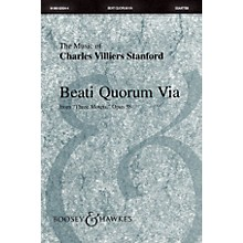 Boosey and Hawkes Beati Quorum Via (from Three Motets, Opus 38) Sop 1/2 Alto Tenor Bass 1/2 by Charles Villiers Stanford
