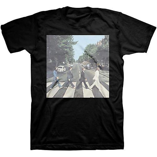 Bravado Beatles Abbey Road Mens T-Shirt Black Large