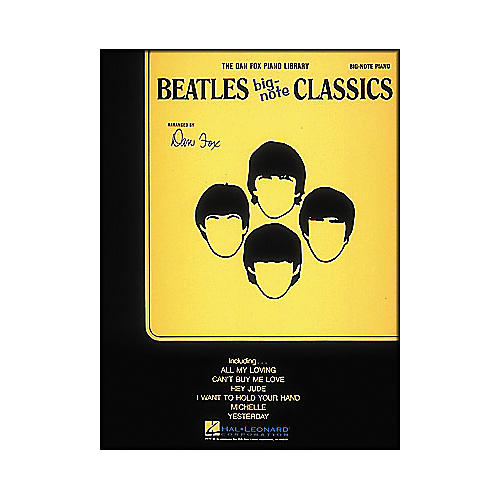 Hal Leonard Beatles Classics for Big Note Piano