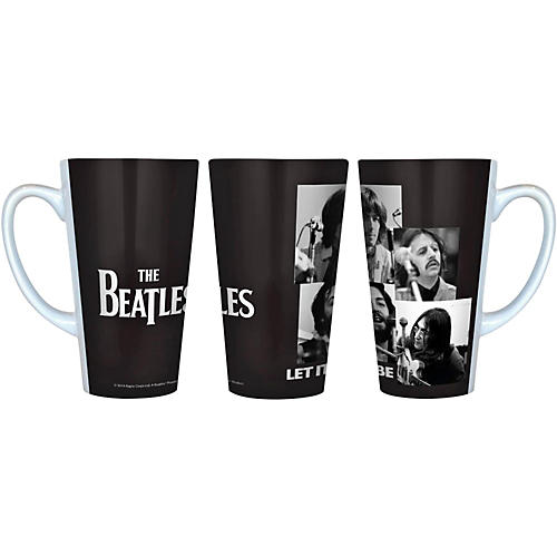 Boelter Brands Beatles Let It Be - Black and White Latte Mug 16 oz.