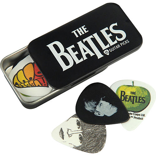 D'Addario Planet Waves Beatles Logo Pick Tin - 15 Medium Picks