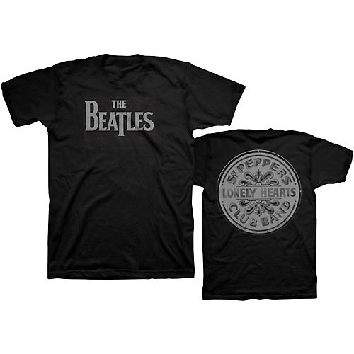 Bravado Beatles Lonely Hearts T-Shirt Black Small