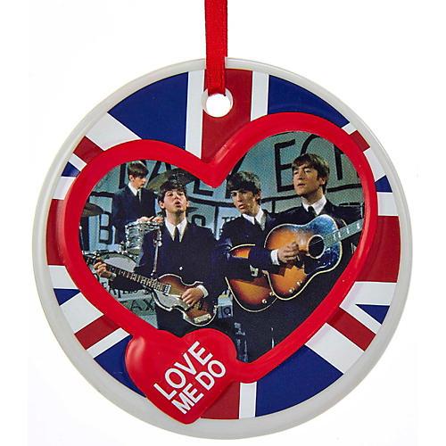 Kurt S. Adler Beatles Porcelain Disc Ornament-thumbnail