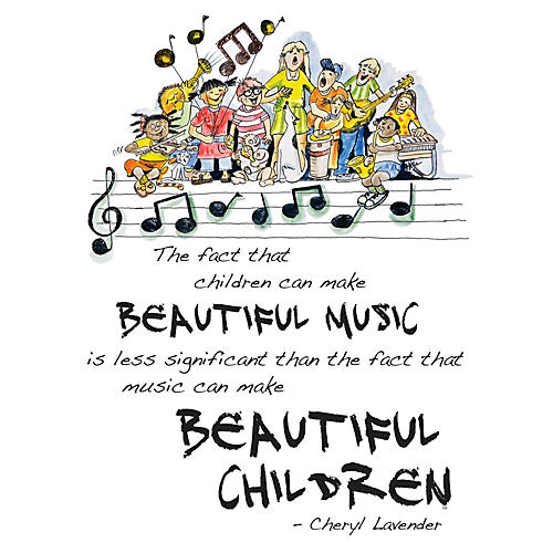 Hal Leonard Beautiful Music, Beautiful Children Poster (18x24 Framed Poster) Composed by Cheryl Lavender