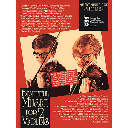 Music Minus One Beautiful Music for 2 Violins Music Minus One Series Softcover with CD Edited by Samuel Applebaum