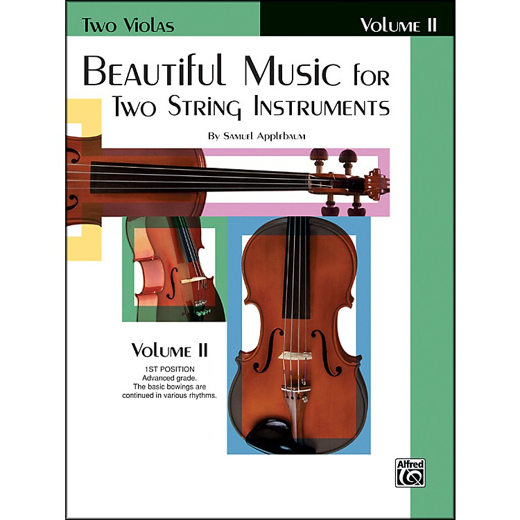 Alfred Beautiful Music for Two String Instruments Book II 2 Violas