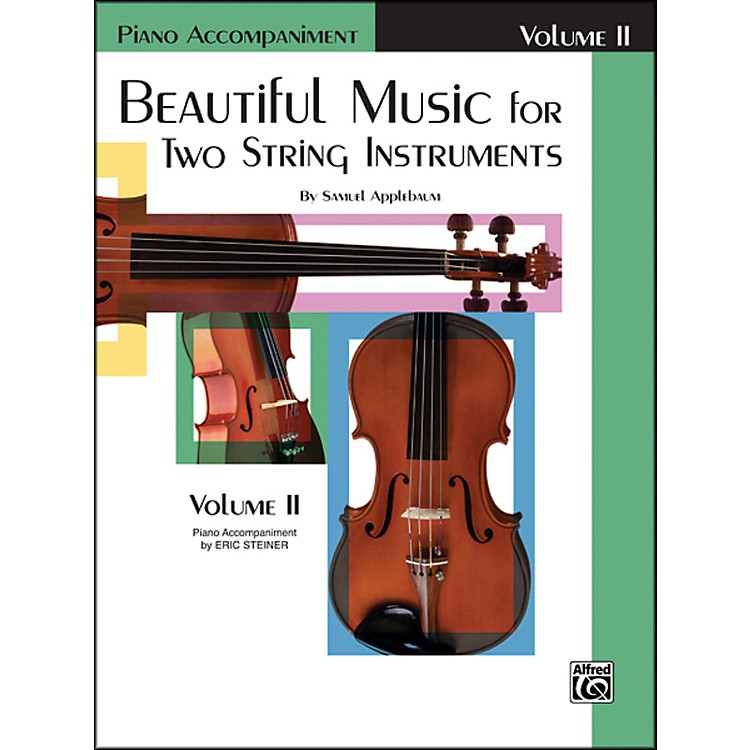 AlfredBeautiful Music for Two String Instruments Book II Piano Acc.