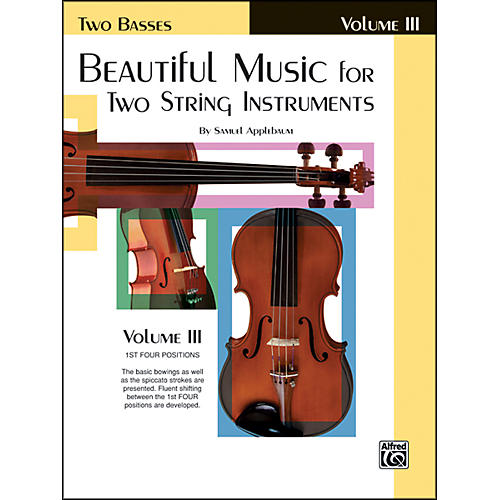 Alfred Beautiful Music for Two String Instruments Book III 2 Basses-thumbnail