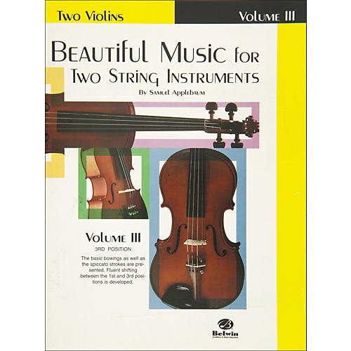 Alfred Beautiful Music for Two String Instruments Book III 2 Violins