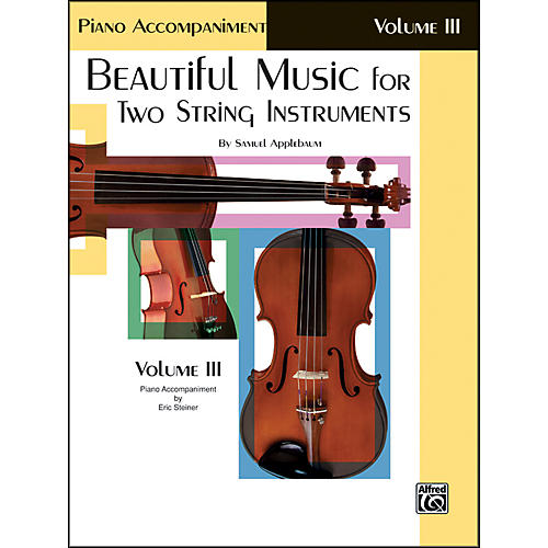 Alfred Beautiful Music for Two String Instruments Book III Piano Acc.