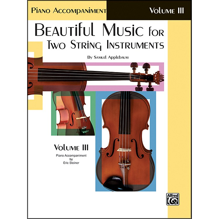 AlfredBeautiful Music for Two String Instruments Book III Piano Acc.