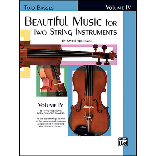 Alfred Beautiful Music for Two String Instruments Book IV 2 Basses-thumbnail