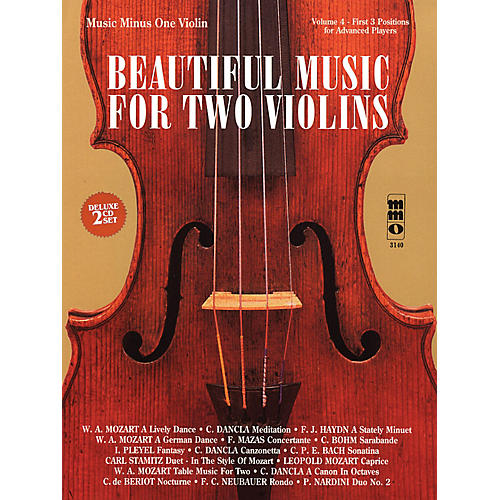 Music Minus One Beautiful Music for Two Violins (2-CD Set) Music Minus One Series Softcover with CD Composed by Various-thumbnail