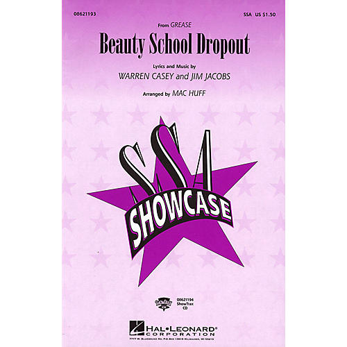 Hal Leonard Beauty School Dropout (from Grease) ShowTrax CD Arranged by Mac Huff