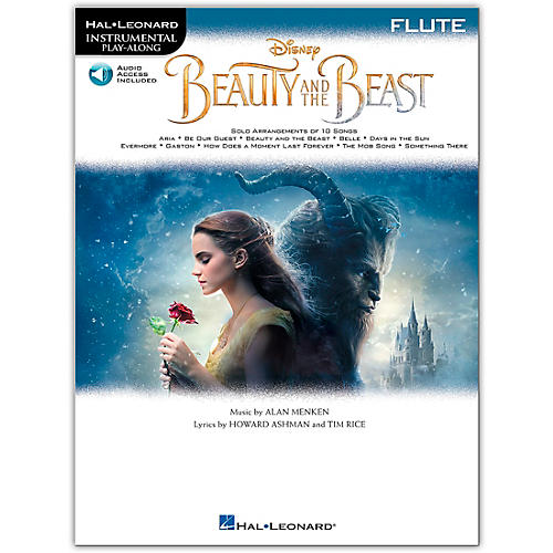 Hal Leonard Beauty and the Beast (Flute) Instrumental Play-Along Series Softcover Audio Online-thumbnail