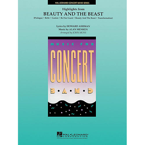 Hal Leonard Beauty and the Beast, Highlights from Concert Band Level 4 Arranged by John Moss-thumbnail