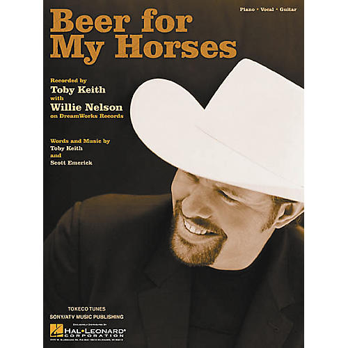 Hal Leonard Beer for My Horses Piano Vocal Book