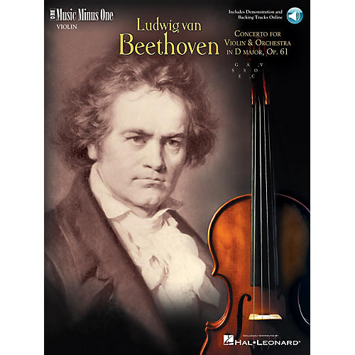 Music Minus One Beethoven - Violin Concerto in D Major, Op. 61 (2-CD Set) Music Minus One Series Softcover with CD-thumbnail