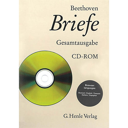 G. Henle Verlag Beethoven Correspondence - Volumes 1-7 CD-ROM (Edition CD-ROM) Henle Books Series Hardcover-thumbnail