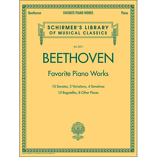 G. Schirmer Beethoven: Favorite Piano Works - Schirmer's Library Of Musical Classics LB 2071 By Beethoven-thumbnail