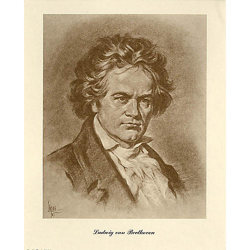 Music Sales Beethoven (Lupas Portrait Poster) Music Sales America Series-thumbnail