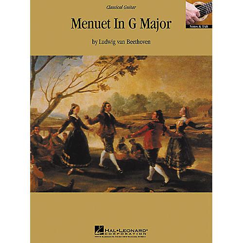 Hal Leonard Beethoven: Menuet in G Major Guitar Sheet Music Book