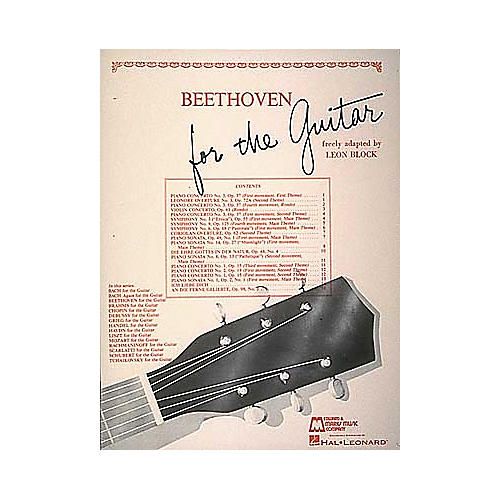 Edward B. Marks Music Company Beethoven for Guitar Book