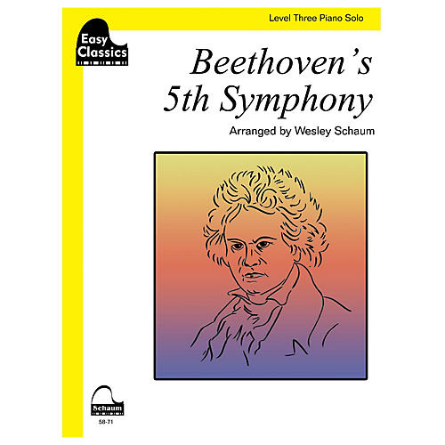 SCHAUM Beethoven's 5th Symphony Educational Piano Book by Ludwig van Beethoven (Level 3)-thumbnail