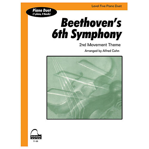 SCHAUM Beethoven's 6th Symphony (duet) Educational Piano Series Softcover-thumbnail