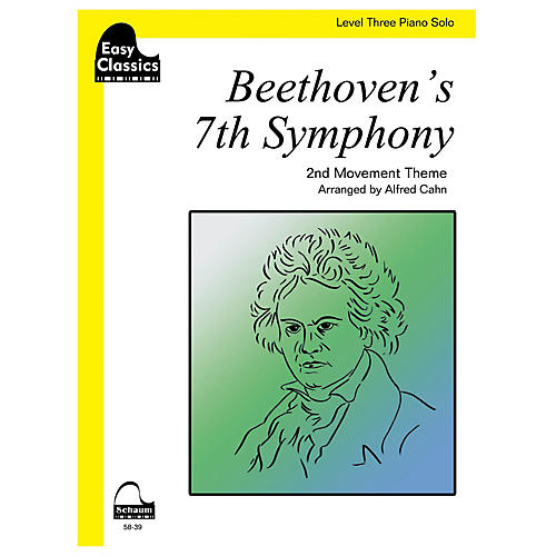 SCHAUM Beethoven's 7th Symphony Educational Piano Series Softcover