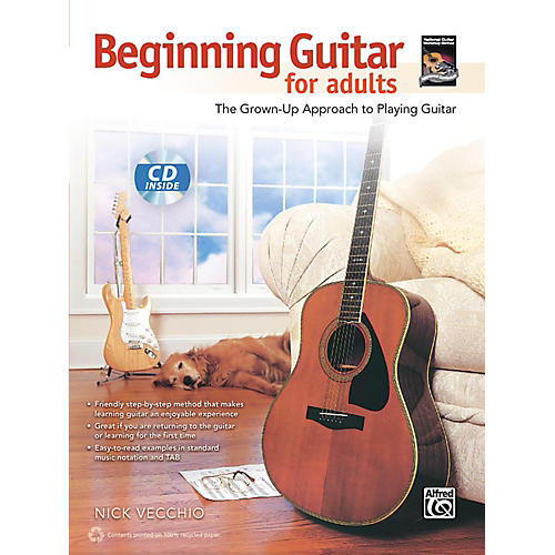 Alfred Beginning Guitar for Adults Book & CD