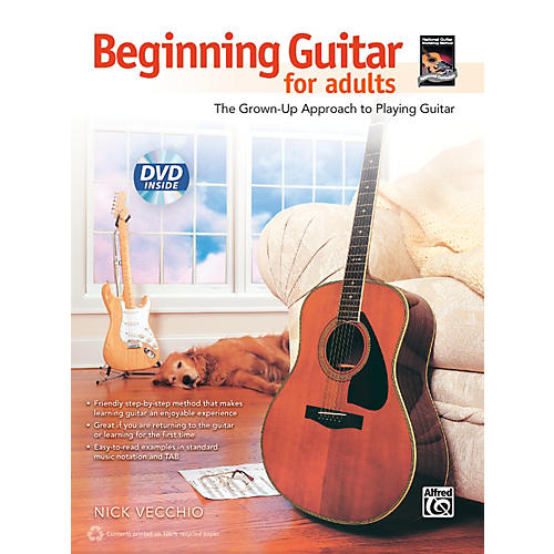 Alfred Beginning Guitar for Adults (Book & DVD)-thumbnail