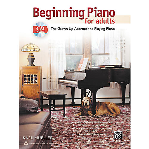 Alfred Beginning Piano for Adults Book & CD-thumbnail