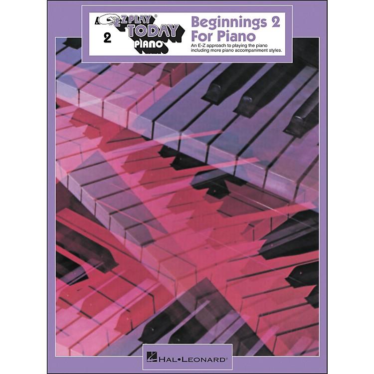 Hal LeonardBeginnings Book 2 for Piano E-Z Play