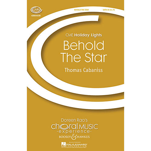 Boosey and Hawkes Behold the Star (CME Holiday Lights) SATB with Harp composed by Thomas Cabaniss