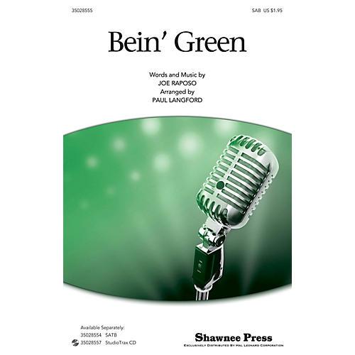 Shawnee Press Bein' Green (SAB) SAB by Kermit The Frog arranged by Paul Langford-thumbnail
