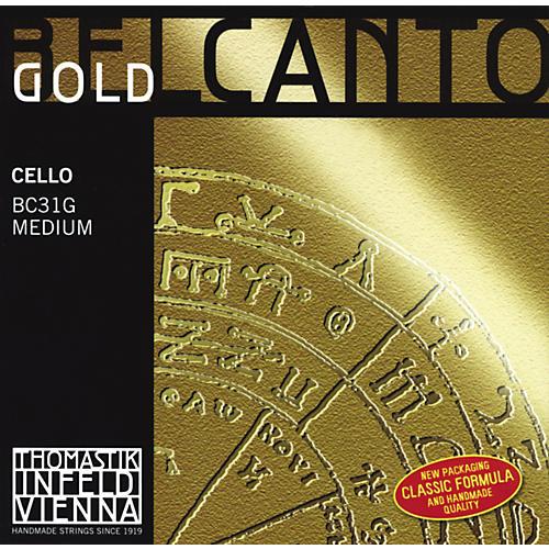 Thomastik Belcanto Cello Strings 4/4 Size A String Gold
