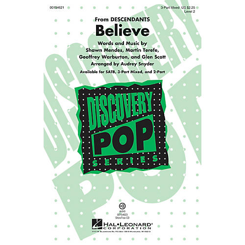 Hal Leonard Believe (Discovery Level 2) 3-Part Mixed arranged by Audrey Snyder-thumbnail