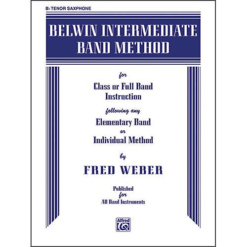 Alfred Belwin Intermediate Band Method B-Flat Tenor Saxophone