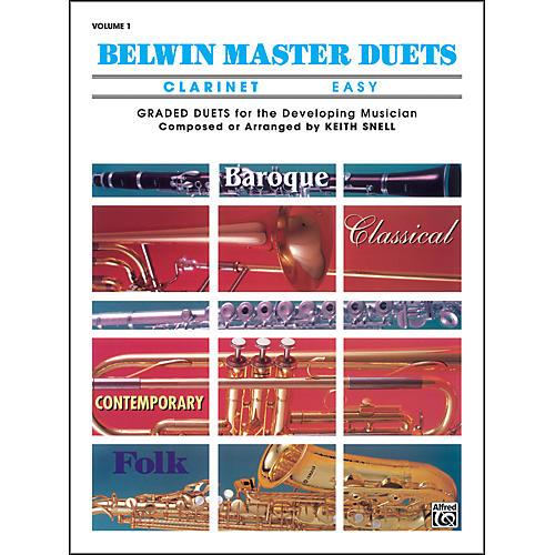 Alfred Belwin Master Duets (Clarinet) Easy Volume 1