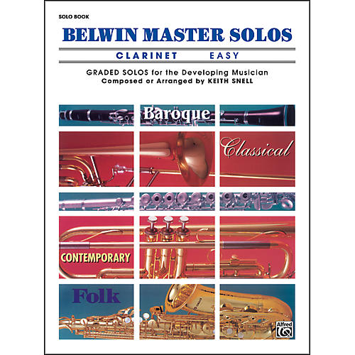 Alfred Belwin Master Solos Volume 1 (Clarinet) Easy Solo Book Only