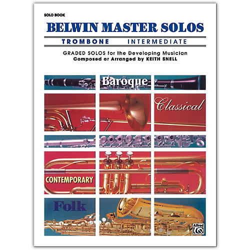 Alfred Belwin Master Solos Volume 1 (Trombone) Intermediate Solo Book Only