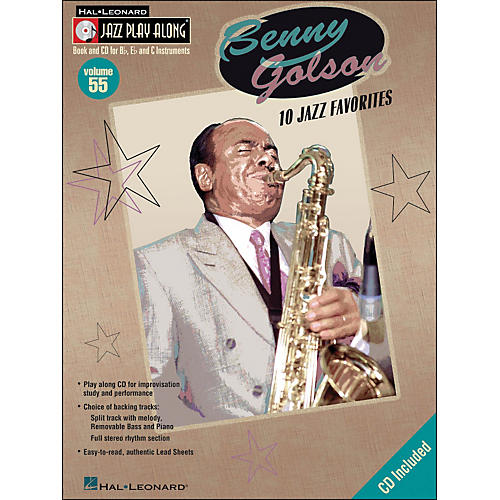 Hal Leonard Benny Golson Volume 55 Book/CD 10 Jazz Favorites Jazz Play Along