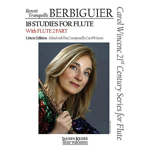 Lauren Keiser Music Publishing Benoit Tranquille Berbiguier - 18 Studies for Flute LKM Music Series-thumbnail