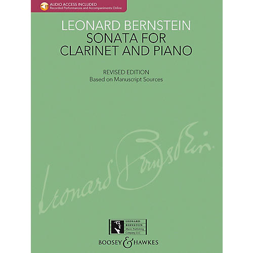 Boosey and Hawkes Bernstein - Sonata for Clarinet and Piano Boosey & Hawkes Chamber Music BK/CD by Leonard Bernstein-thumbnail