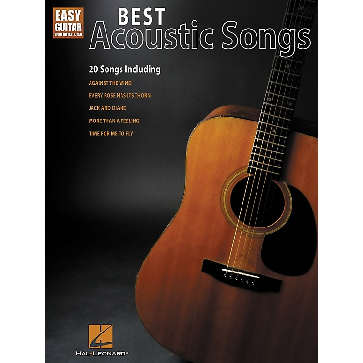 Hal Leonard Best Acoustic Songs - Easy Guitar With Notes & Tab Series