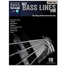 Hal Leonard Best Bass Lines Ever - Bass Play-Along Volume 46 Book/Online Audio
